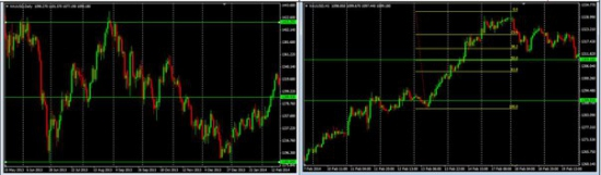 Пример торговли и торгового анализа на Forex
