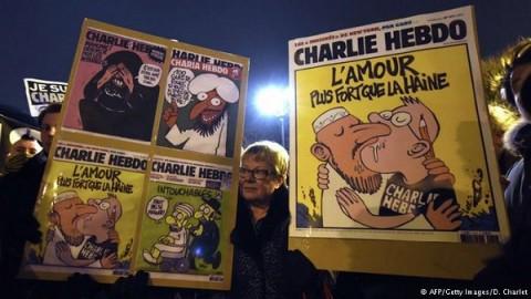 Карикатуры на теракты в Париже