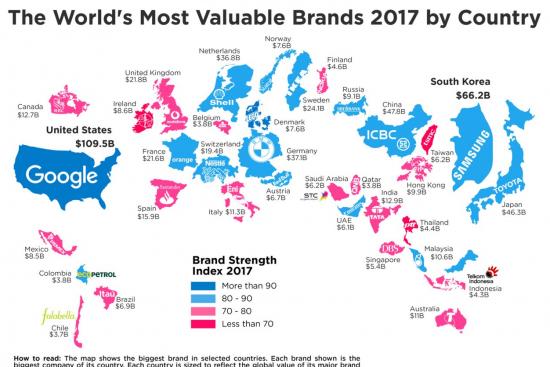 Самые дорогие бренды в мире