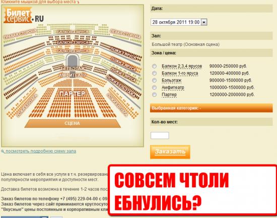 Цена билета в рублях в большой театр премьер кино цена билетов