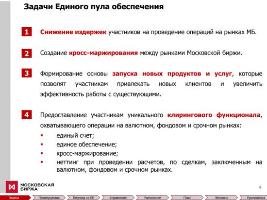 Единый пул обеспечения Московской Биржи
