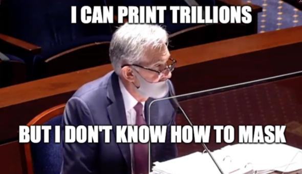 Глава ФРС не умеет носить маску