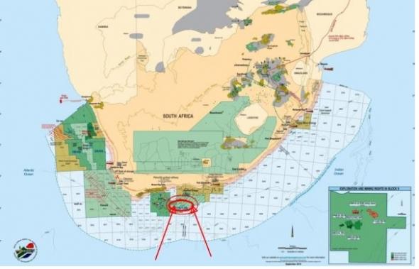 Обнаружено газовое месторождение у берегов Южной Африки.