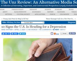 США. 10 признаков приближения депрессии.