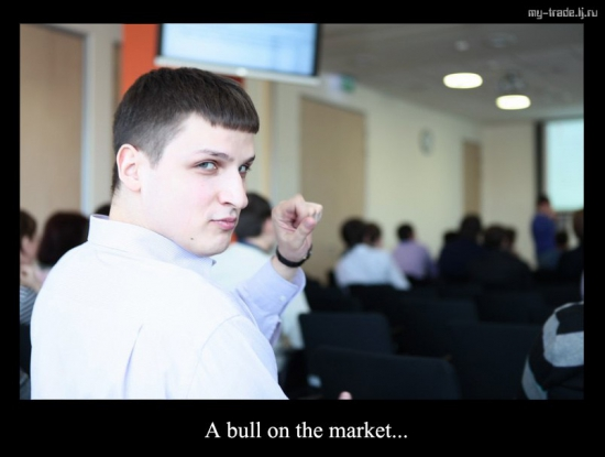 a bull on the market