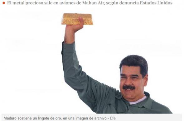Мадуро передаёт Ирану тонны золота из запасов Венесуэлы