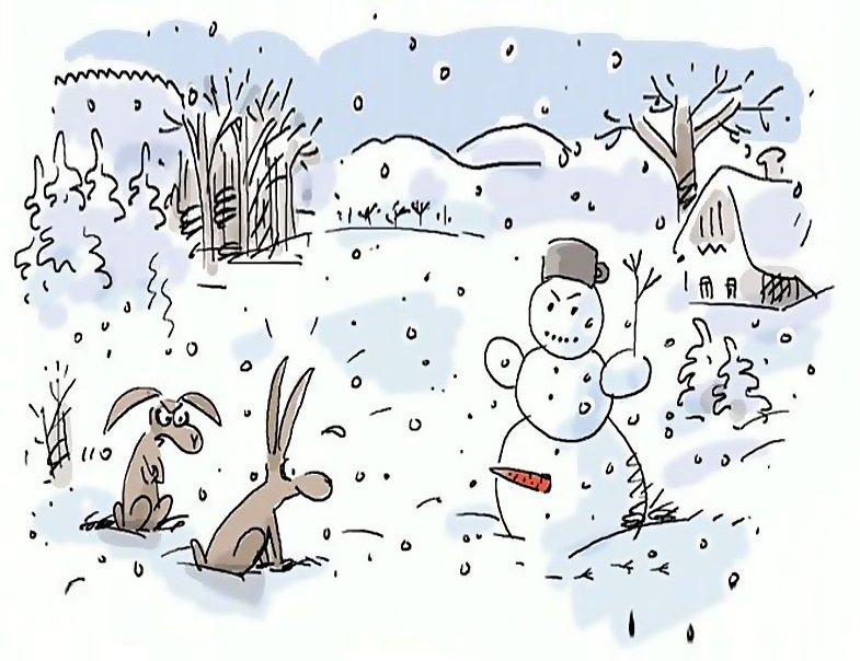 картинки с шутками про зиму настенная прихожую