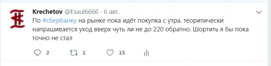 Итак вчера я даже чуток снял со сбера от лонга, скидывал об этом в твиттере, о вероятности выноса вверх в сбере и нефти