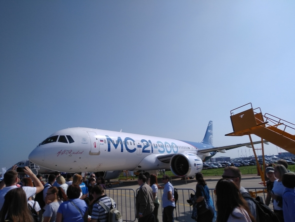 МС-21 (ОАК) сделал первый демонстрационный полет на МАКС 2019 в Жуковском