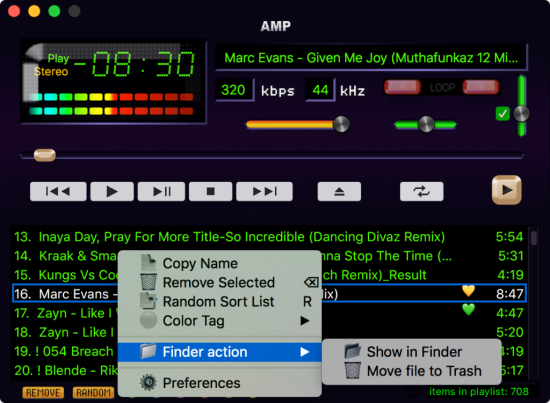 AMP player best alternative Winamp for macOS