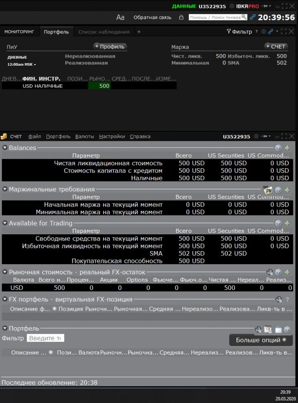 Битва Опционщиков NYSE. Отчет за прошедшую неделю на 20.03.20