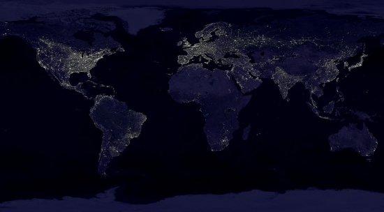 Какая энергетика питает наш мир, вид из космоса