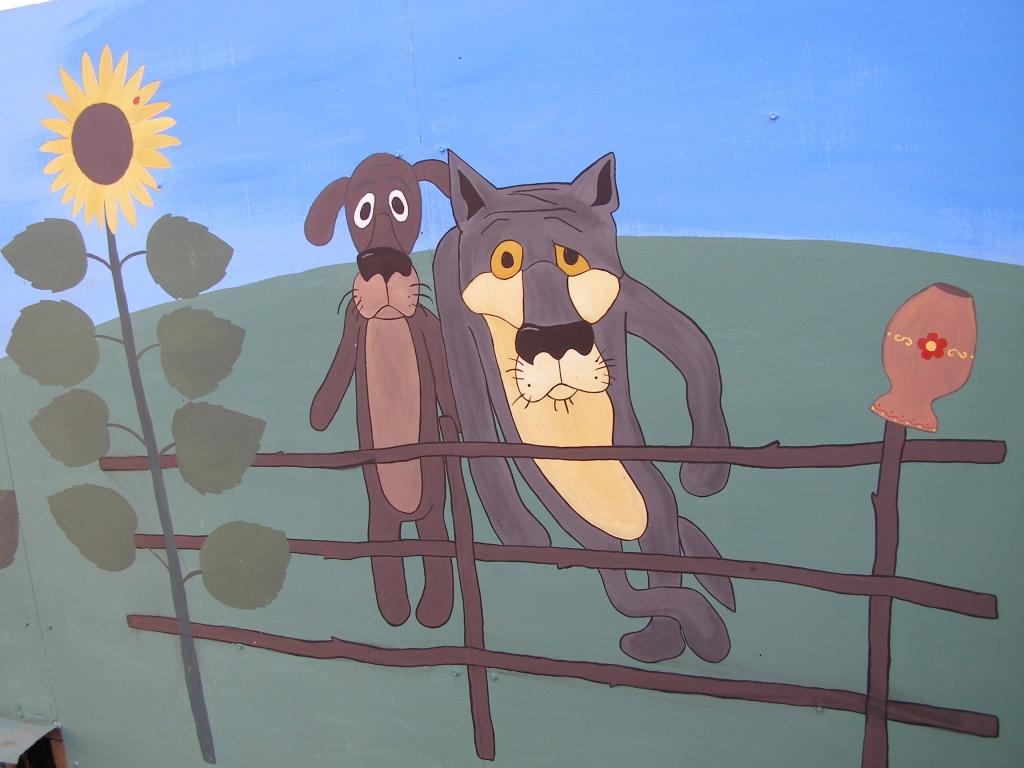 изящные мультяшные картинки на заборе том, что