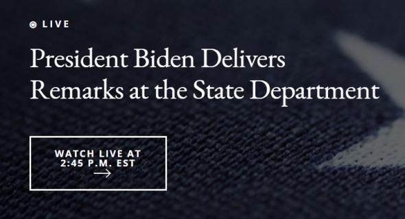 Байден выступит с речью о внешнеполитическом курсе США 4 февраля в 22-45 по мск
