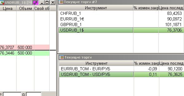 Теперь в системе QUIK доступно проведение операций с валютой объемом от одного USD, EUR, GBP или CHF.