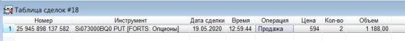 Разгон депо, опционы, СИшка, 19.05.2020..