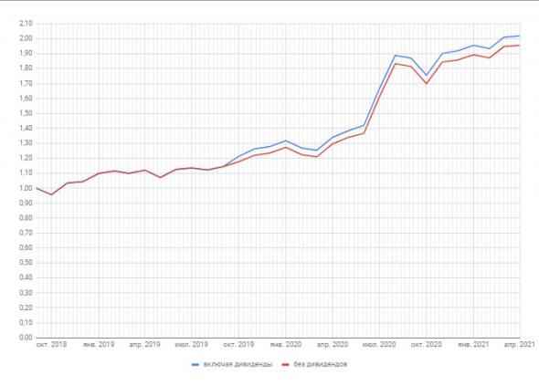 Портфель российских акций 31,02%