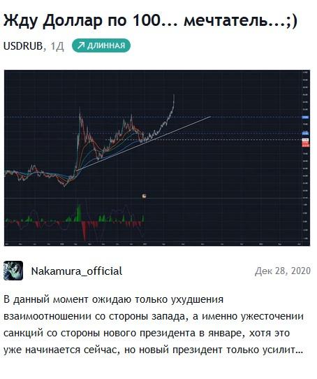 USD/RUB - Чего ожидать на 1ый квартал 2021 года?