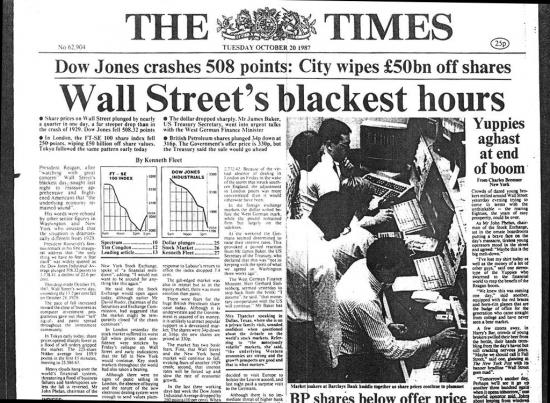 30 лет тому, 19 октября 1987 года ...