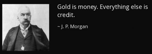 Золото...  J. Morgan как в воду глядел.