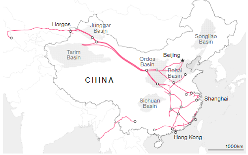 Китай с 9 декабря передает контроль над нефтегазопроводами новой госкомпании