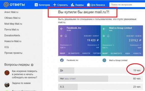 Акции компании Mail.ru трещат по швам и падают на 35%