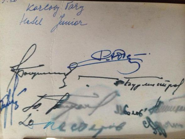 Моя встреча с Юрием Гагариным. Фото из семейного архива.