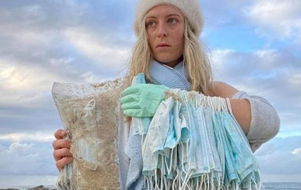 Последствия коронавируса: австралийские пляжи устелены масками