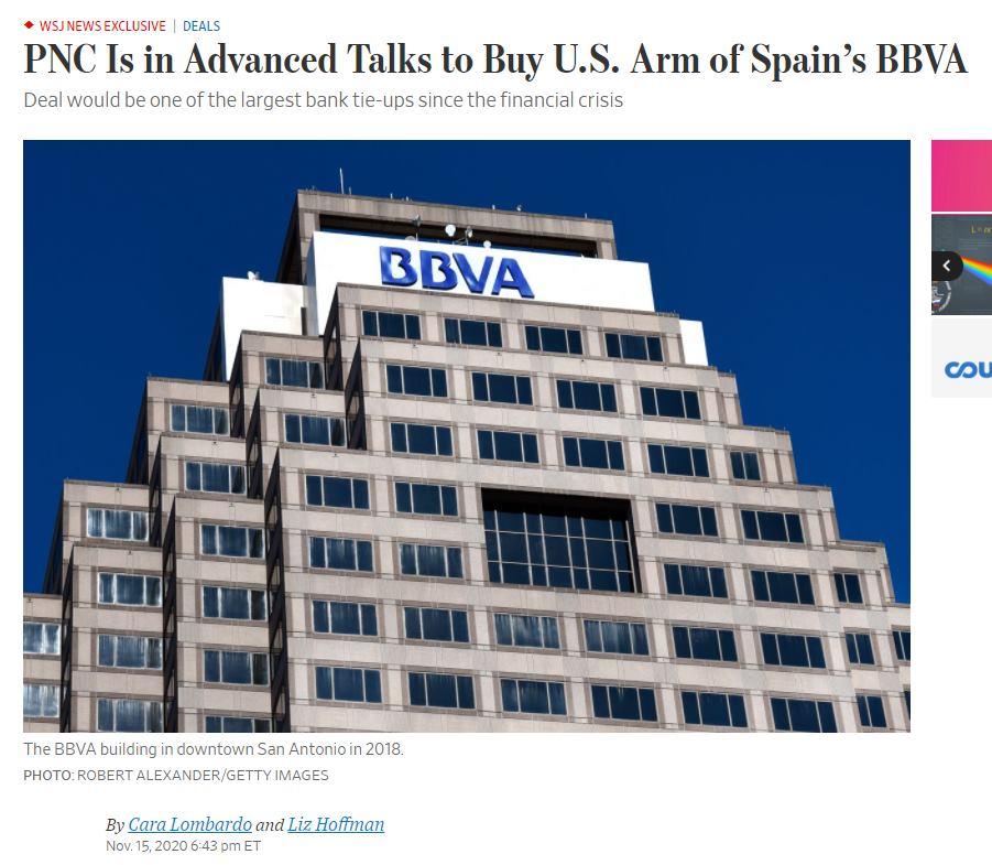 PNC покупает BBVA